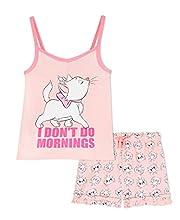 Disney Pijama Niña Corto, Marie Aristogatos Pijamas Niña, Ropa Niña Algodon 100%, Regalos para Niñas Edad 2-14 Años (Rosa, 9-10 años)