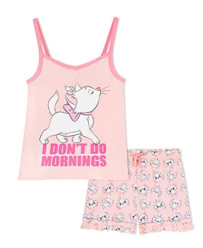 Disney Schlafanzug Mädchen, Pyjama Mädchen, Schlafanzug Kinder Kurz, Schlafanzug Teenager Mädchen, Aristocats Marie Mädchen Kleidung, 92-164 (Rosa, 9-10 Jahre)