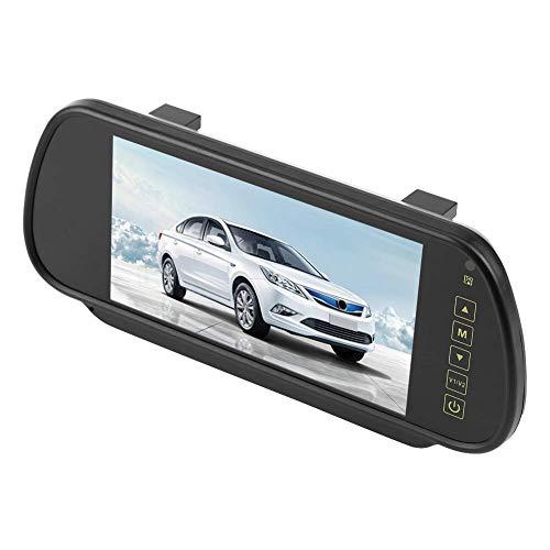Monitor inalámbrico IR 7 pulgadas LCD retrovisor de marcha atrás Kit de cámara de aparcamiento de respaldo accesorios para coche camión autobús