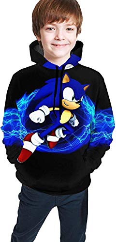 guoweiweiB Kapuzenpullover Jungen Mädchen Hedgehogs Sonic Kids' Soft Hooded Sweatshirt Hoodie for Boys Or Girls