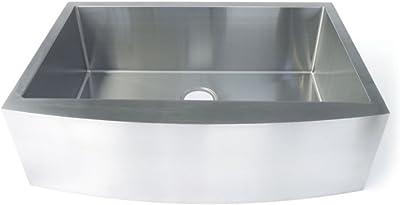 Starstar 35 Inch Undermount Farmhouse Apron Single Bowl 16 Gauge Stainless Steel Kitchen Sink Amazon Com