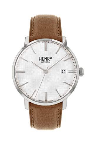 Henry London Orologio Analogico Quarzo Unisex Adulto con Cinturino in Pelle HL40-S-0349