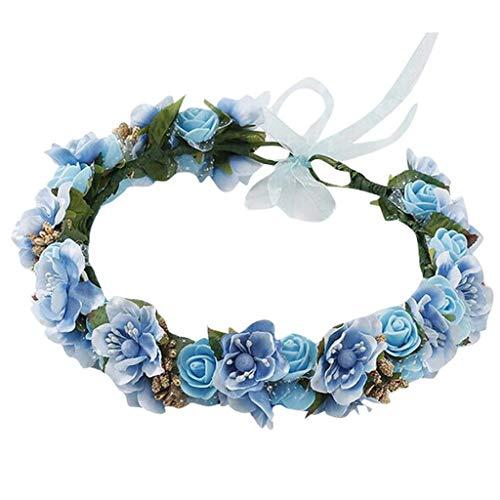 Amlaiworld Flor Nupcial Guirnalda Diadema Flor Corona Pelo Corona halo Accesorio para el Pelo Tocado de Flores de Sakura para niñas y Mujeres