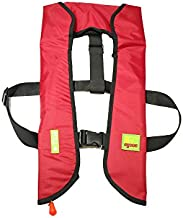 Top Safety Adult Life Jacket with Whistle - Manual Version Inflatable Lifejacket Life Vest Preserver PFD for Boating Fishing Sailing Kayaking Surfing Paddling Swimming - Adjustable Life Saving Vest
