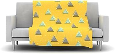 E by design PGN529BL14BL40-26 26 x 26-inch Geometric Print 26x26 Blue Jodhpur Kilim