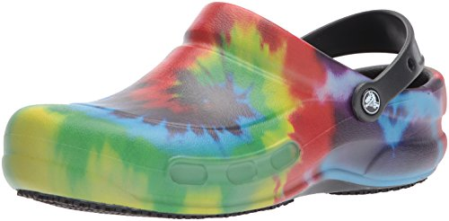 Crocs Bistro Graphic Clog, Unisex Adulto Zueco, Multicolor (Black/Multi), 45-46 EU