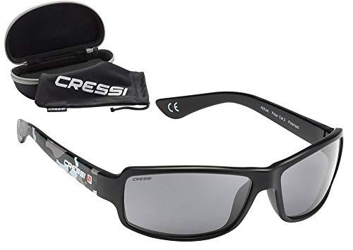 Cressi Ninja Gafas de sol, Unisex Adulto, Negro/Verde...