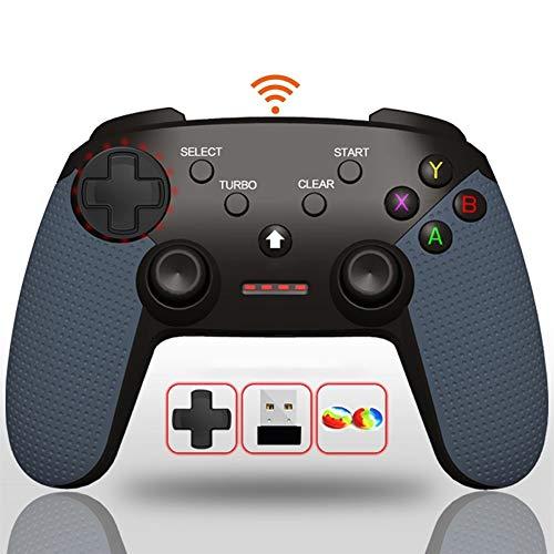 For Plataforma Steam 2.4G Bluetooth Controlador Inalámbrico Dual Modo Remota No Retraso 12M Gamepad Dual Vibración Controlador de Juego - Cuero Agarre de Silicona/Ergonomía/360 ° Joystick