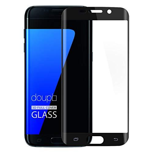 doupi FullCover Pellicola Protettiva per Samsung Galaxy S7 Edge, Premium 9H HD Protettiva Protezione dello Schermo Tempered Glass, Nero