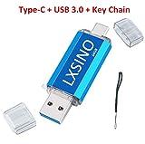 Foto LXSINO 64 GB Dual Type-C USB 3.0 Flash Drive OTG Pen Drive per smartphone di tipo C, Samsung Galaxy S9, Note9, S8, S8 Plus, LG G6, Google Pixel XL, MacBook Pro