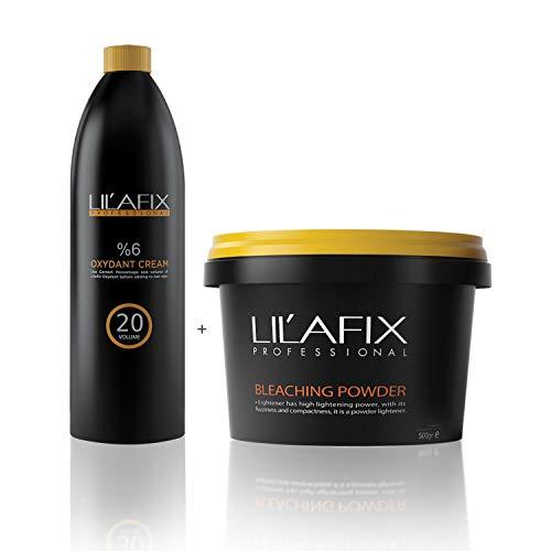 Lilafix Oxydant Cream Oxidant Wasserstoff Entwickler 6% 1l + Blondierung 2000g