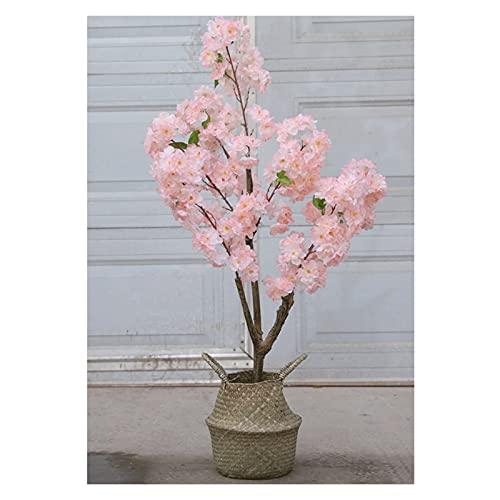 YUXI8541NO Künstlicher Bonsai Baum Künstliche Kirschblüten Baumpflanzen 27 Zoll gefälschte Kirschblüten Zweig Blätter Topiary Faux Pflanzendekor künstlicher Baum