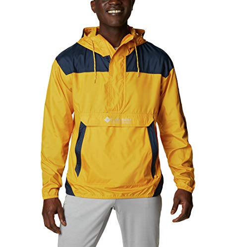 Columbia Herren Challenger Windbreaker, Bright Gold, Collegiate Navy, XL