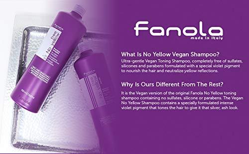 Fanola Official No Yellow Vegan Shampoo (350ml x 2)