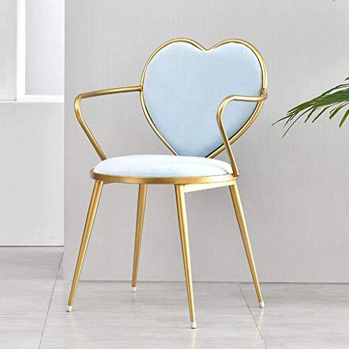 Nordic Restaurant Lounge Stuhl Cafe Tea Shop Einfacher herzförmiger Make-up Stuhl