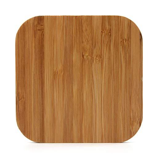Eariy Quadratische Holzmaserung Drahtlose Aufladung, Fast Wireless Charger Induktive Schnellladestatio,Holz Fast Qi Ladestation Kabelloses LadegeräT, Kompatibel Mit Allen Qi-StandardgeräTen (A)