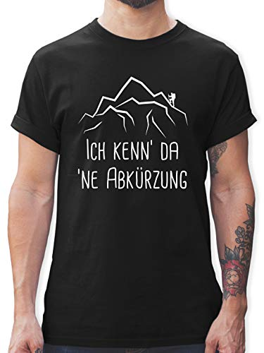 Hobby - Ich Kenn' da 'ne Abkürzung - weiß - L - Schwarz - Herren Shirt ich Kenn da ne abkürzung - L190 - Tshirt Herren und Männer T-Shirts