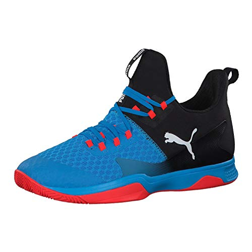 Puma Unisex-Erwachsene Rise Xt 3 Multisport Indoor Schuhe, Blau (Bl EU Azur-Red Blast-Puma Black), 40.5 EU