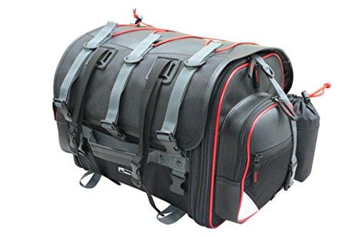 タナックス(TANAX) motofizz モトフィズ)フィールド シートバッグ [39⇔59リットル] ブラック 【赤パイピング仕様】 MFK-101R3