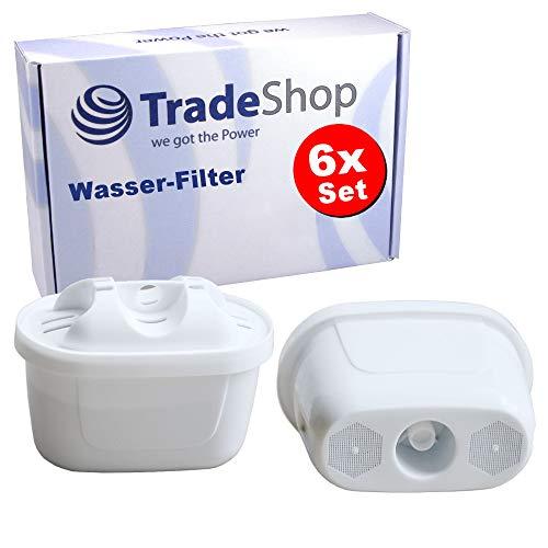 Trade-Shop 6X Filterkartuschen für Bosch Tassimo TAS5542GB, TAS6515GB, TAS8520, TAS8520GB, TAS6515, TAS4502, TAS4503, TAS4504 Wasser-Filter/für sauberes Wasser