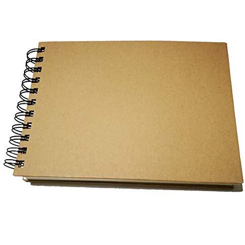 Eachgoo Bloc de Dibujo A5, Espiral Encuadernación Cuaderno de Dibujo con Tapa Dura 160 gsm 60 Hojas Apaisado
