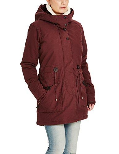 Bench Damen RELATOR Mantel, Rot (Dark Red BU023), 34 (Herstellergröße: XS)