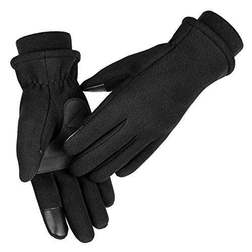 OZERO Winter Bike Gloves for Girl Touch Screen Fingers Hands Warm in Cold Weather for Cycling and Running X-Small Black