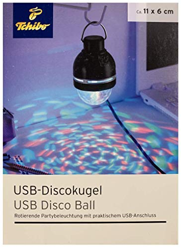 TCM Tchibo Discokugel USB-Anschluss Discolicht Partylicht Disco Lichteffekte Partybeleuchtung Lampe