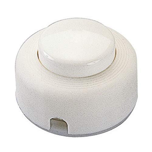 Poly Pool PP0476X Interruptor de puls. unipolar 2 A, blanco