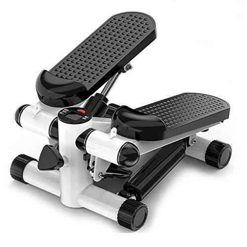 Stepper Máquinas de Step Mini de pasos, la aptitud escalera paso a paso - twist portátil escalera paso a paso, de ejercicio físico máquina duradera y pantalla LCD y pedales cómodos ( Color : Black )