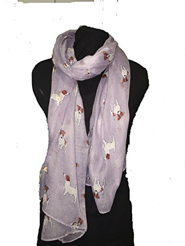 Pamper Yourself Now Hell lila Jack Russel Hund Schal/wrap -Light Purple Jack Russel Dog Scarf/wrap