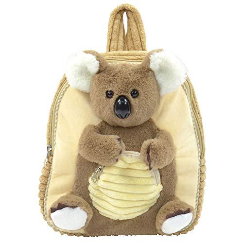 Kögler 85414 - Plüsch Rucksack für Kinder, Koala, braun/beige, flauschig weich, mit Tragegriff und längenverstellbaren Trageriemen, ca. 35 cm groß, für Jungen und Mädchen