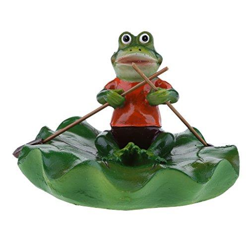 petsola Frosch Und Blatt Schwimmend Schwimmfrosch Teichdeko Miniteich Garten Teich - Rudern