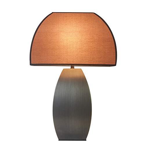 Lámpara de mesa Tabla de lujo moderna Luz de América Lámpara decoración del hotel Sala de estar Estudio creativo dormitorio lámpara de cabecera Noche Lámpara de Mesa ( Color : Remote control )