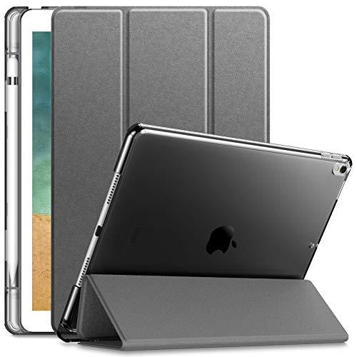 INFILAND Funda para iPad Air 3 10,5 (3ª Generación 2019)/iPad Pro 10,5 2017,Smart Translúcido Case Cascara con portaplumas...