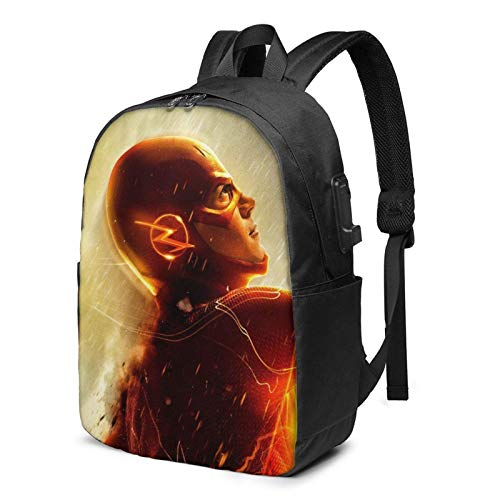 AOOEDM USB Backpack 17 in F-Las-H Laptop Backpack with USB Charging Port Headphone,Large Capacity Business Commute Backpack,College Women Men Backpack Travel Bag 17 Inch