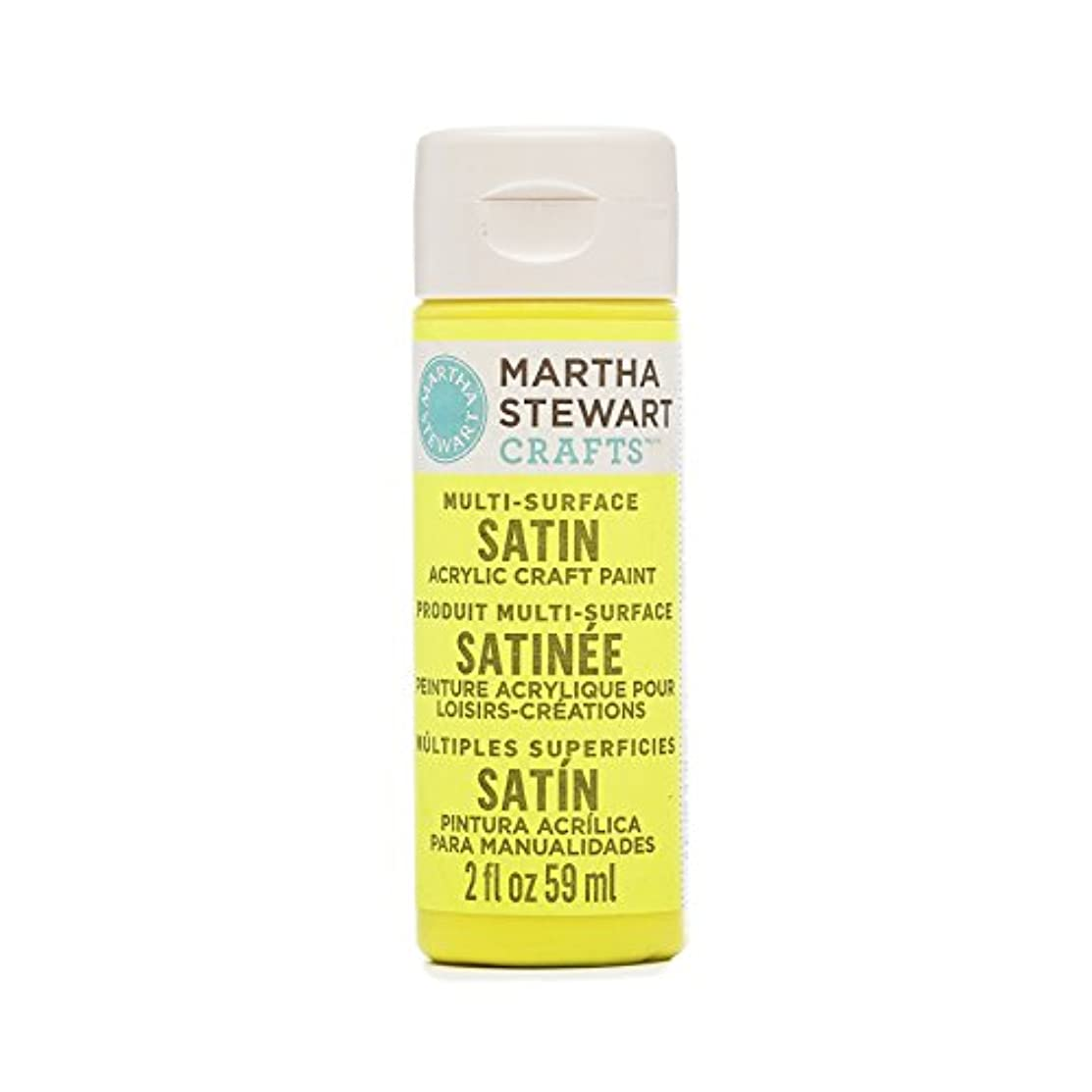 Martha Stewart 33486 Multi-Surface Satin Acrylic Lightning Bug, 2 oz Paint, 9 oz,