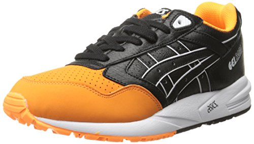 ASICS Men's GEL Saga Retro Running Shoe, Orange Pop/Black, 6 M US