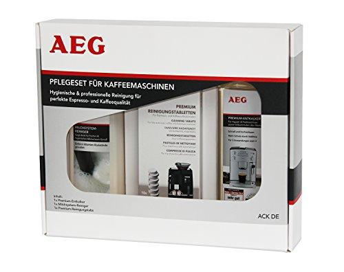 AEG ACK DE Pflegeset für Kaffeemaschinen, Premium-Entkalker, Milchschaumreiniger, Premium-Reinigungstabs