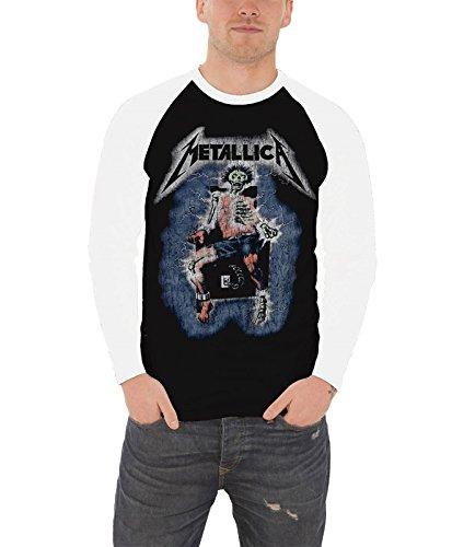 Metallica T Shirt Ride de Lightning band logo Officiële Mens Baseball Shirt XXL