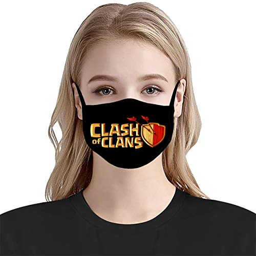 Cl-as-h of Cl-ans 2 Unisex Adult Face Cover Anti-Dust Mask Reusable Mouth with Adjustable Earring