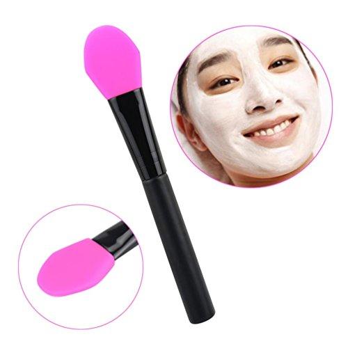 Toamen professionnelle Mask PoignéE Brosse En Bois Visage Facial Masque De Boue MéLange De Brosse CosméTiques De Maquillage (E)