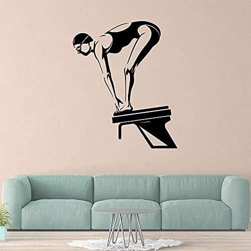 Buceo creativo Deportes Pegatinas de pared Personalidad Decoración creativa Sala de estar Dormitorio Mural decorativo móvil Otro color 57x69cm