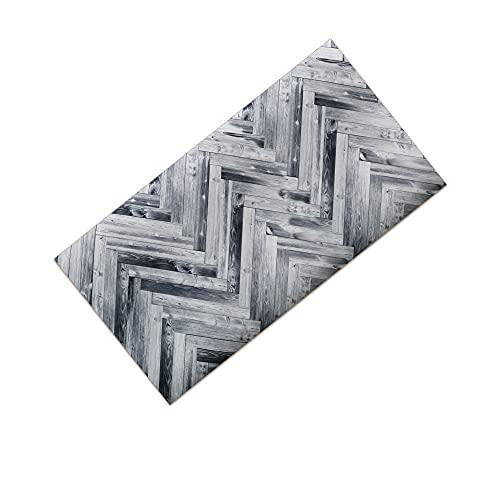 Zm Market Alfombra de cocina antideslizante lavable, alfombra larga de colores, estampado digital
