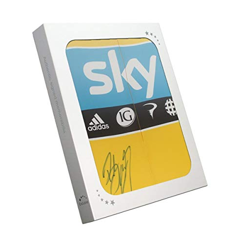 Tour De France 2012 gele trui gesigneerd door Bradley Wiggins. In geschenkverpakking