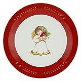 THUN - Piattino Natalizio con Angelo Accessori Cucina - Linea Dolce Natale - Porcellana - Ø 21 cm