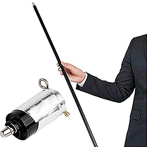 Keniuse Magic Pocket Staff Portable Martial Arts Metal Staff 43.30' / 110CM,59.05'/150CM (Black/110CM, OneSize)