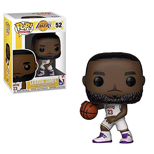 Funko 37271 POP Vinyl: NBA: Lakers: Lebron James (White Uniform) Sammelbares Spielzeug, Multi