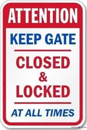 KSFEITING Tin Sign Metal Warning Max depot 88% OFF Reminder Closed Keep Gate