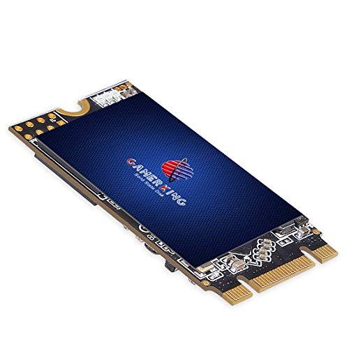 GamerKing M.2 2242 SSD 512GB SATA III 6Gb/s NGFF 内蔵型 Solid State Drive ハードドライブ 高性能ハードドライブノート/パソコン/デスクトップ適用 ソリッドステートドライブ 3年保証SSD 64GB 120GB 128GB 240GB 250GB 480GB 500GB 1TB(512GB, M.2-2242)